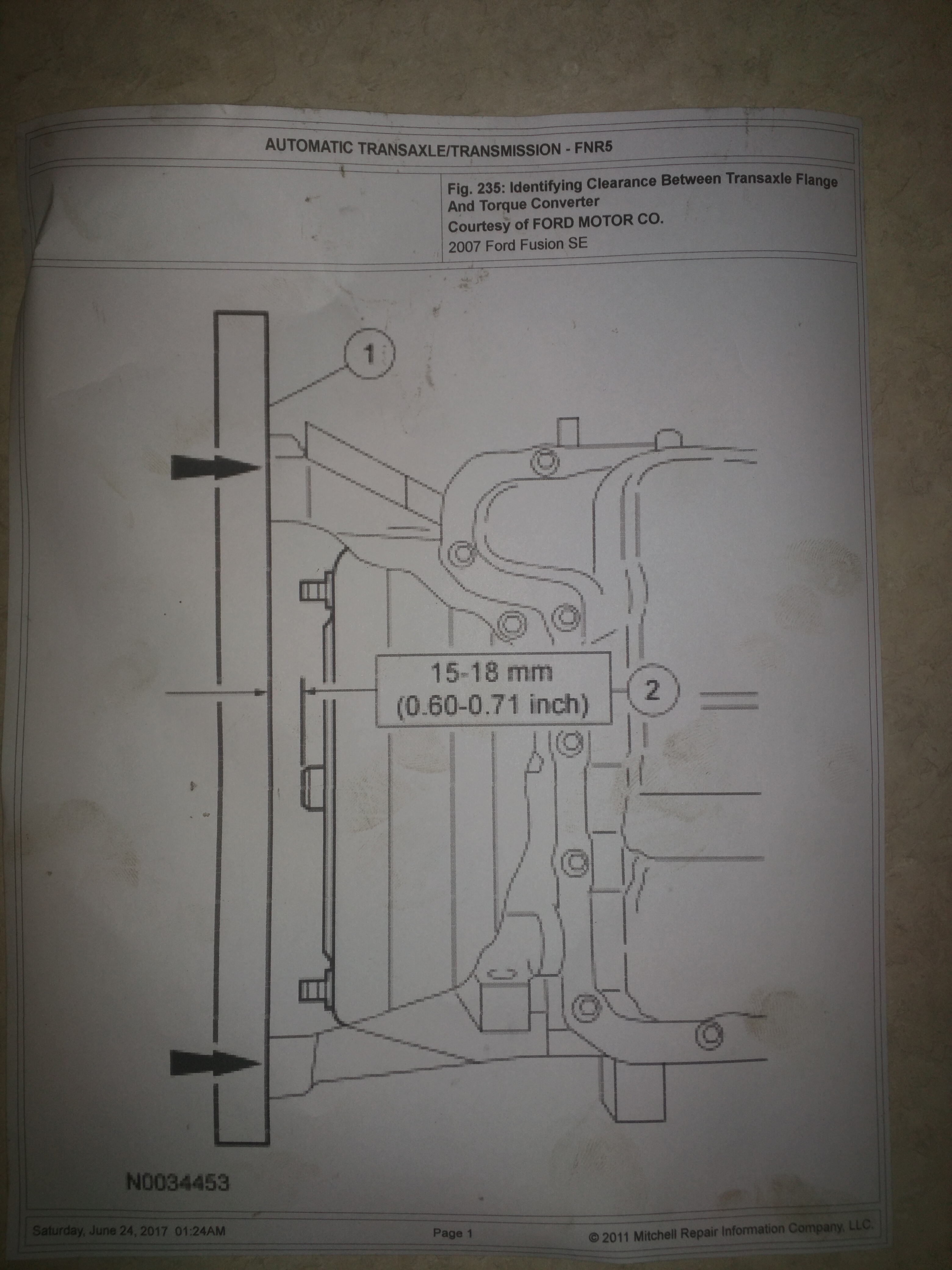 2006 ford fusion manual transmission removal