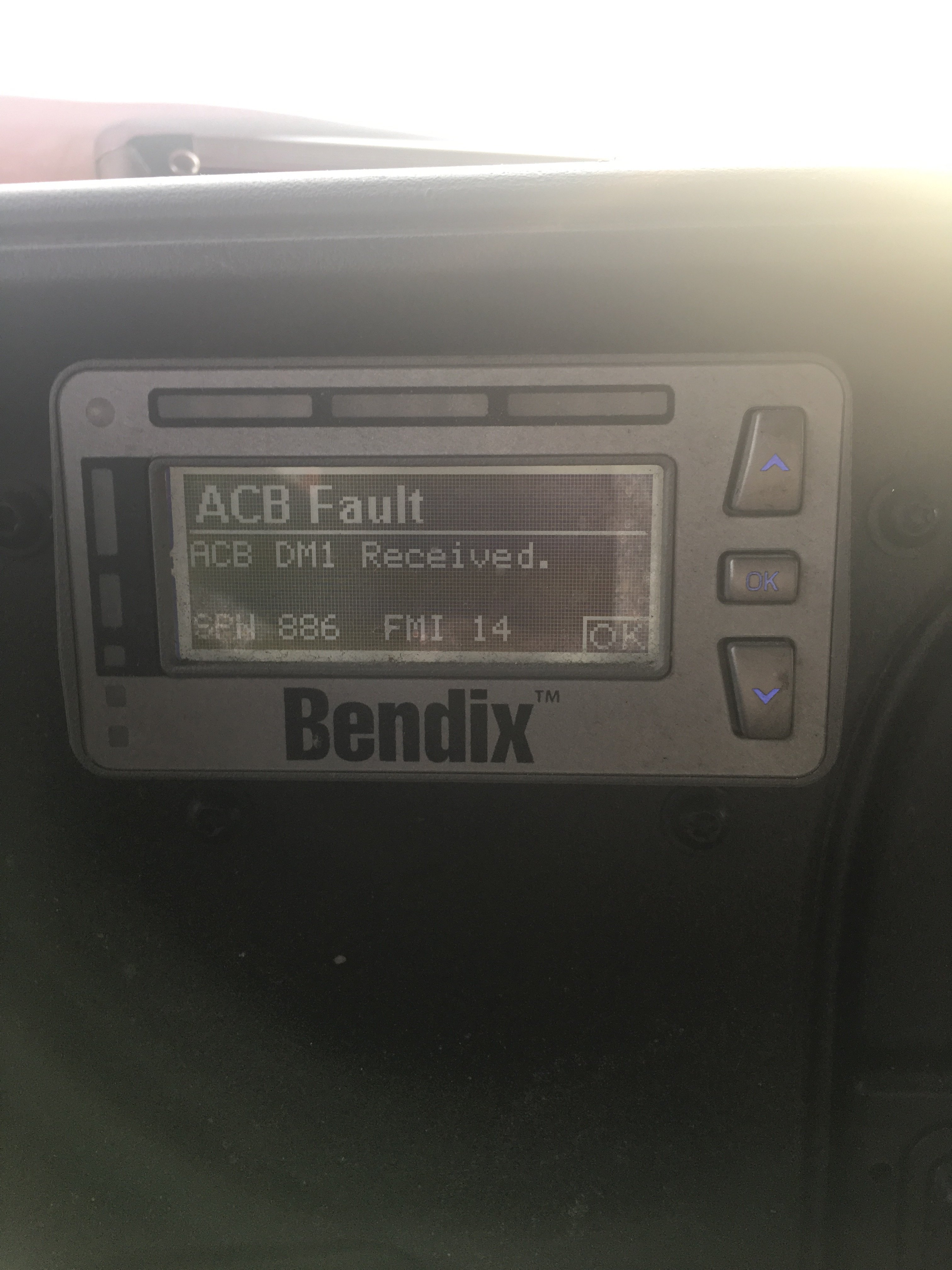 Bendix Wingman system is still throwing a fault code after