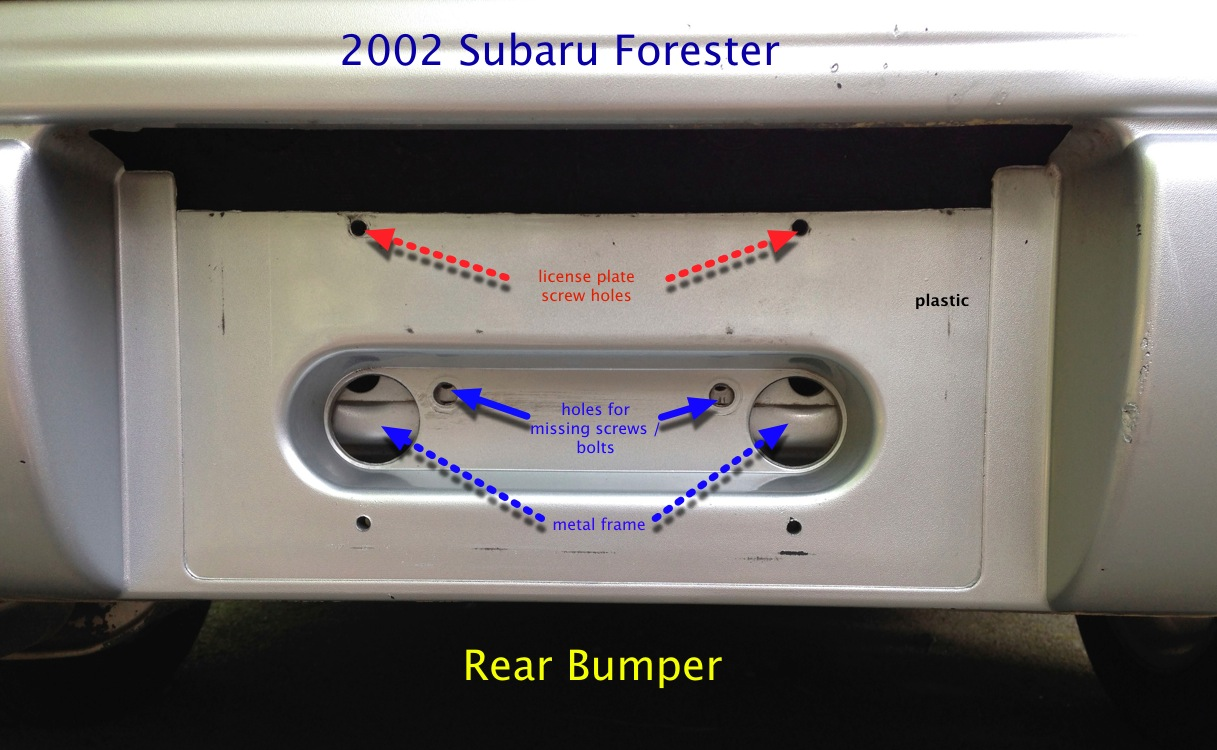 Want replacements screws at rear bumper section (where