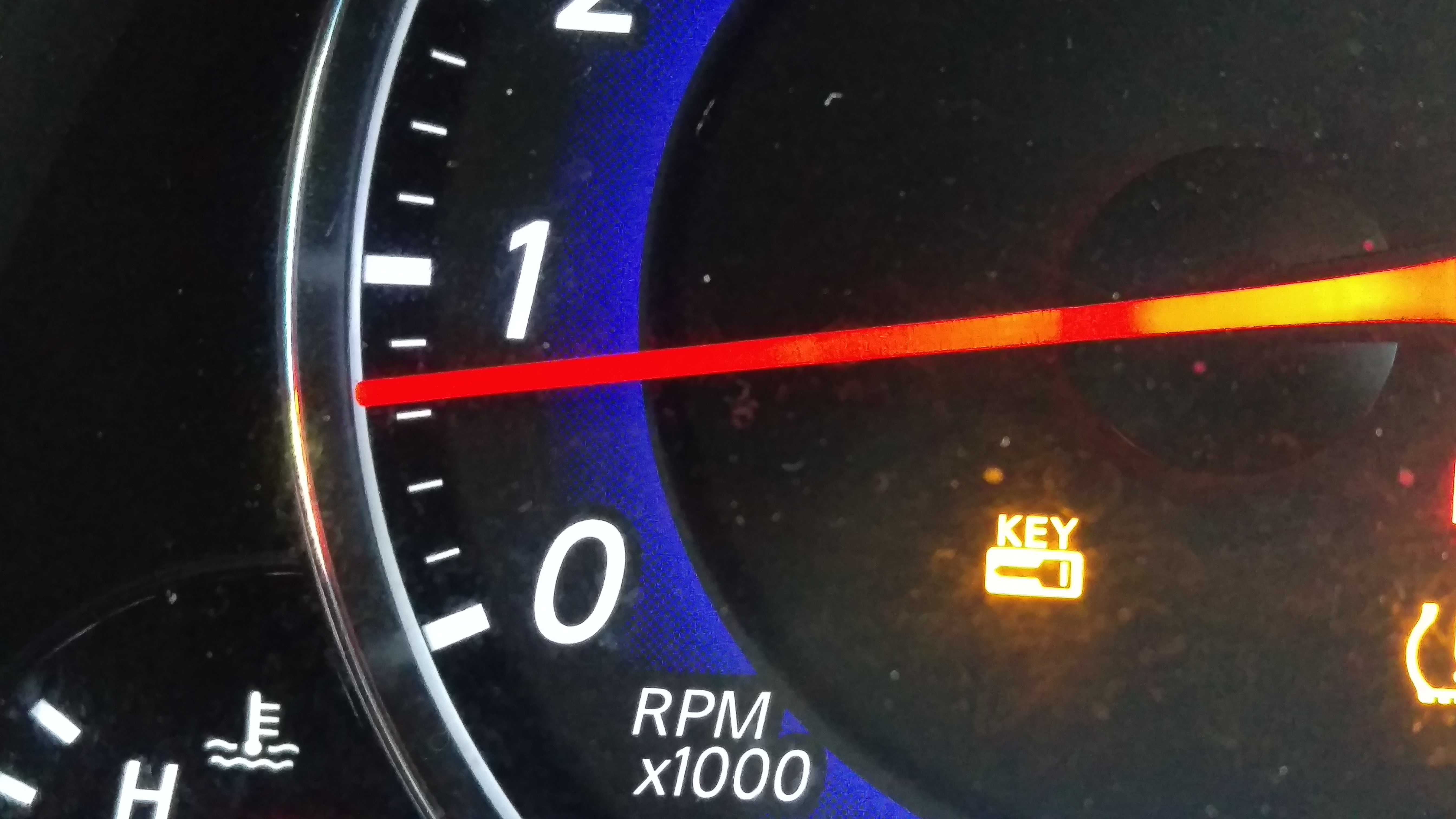 On My 2008 G35 I Get A Small Yellow Key Light Displayed Only When I