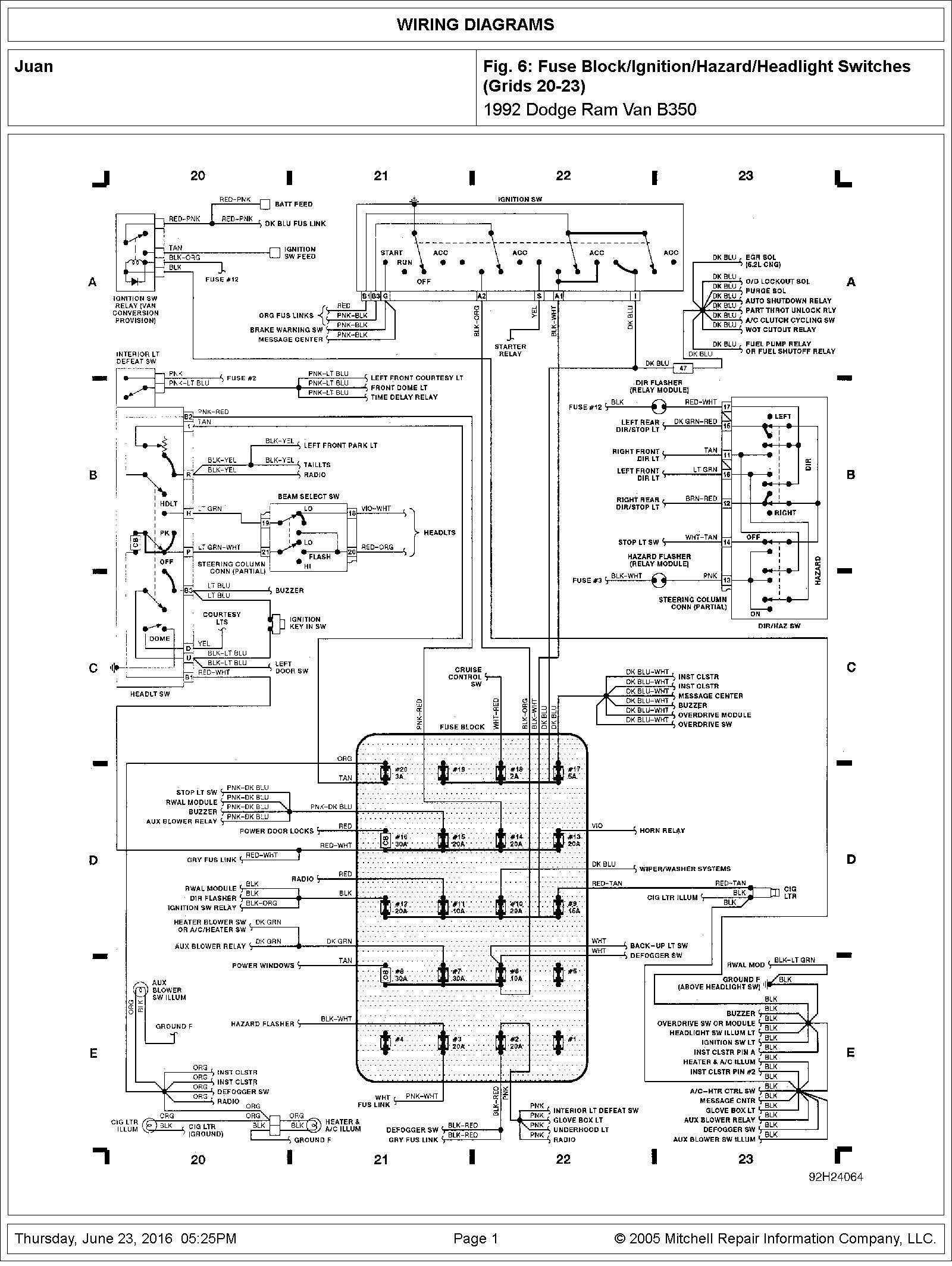 1991 Dodge B350 Fuse Box Wiring Diagrams Panel Panel Chatteriedelavalleedufelin Fr