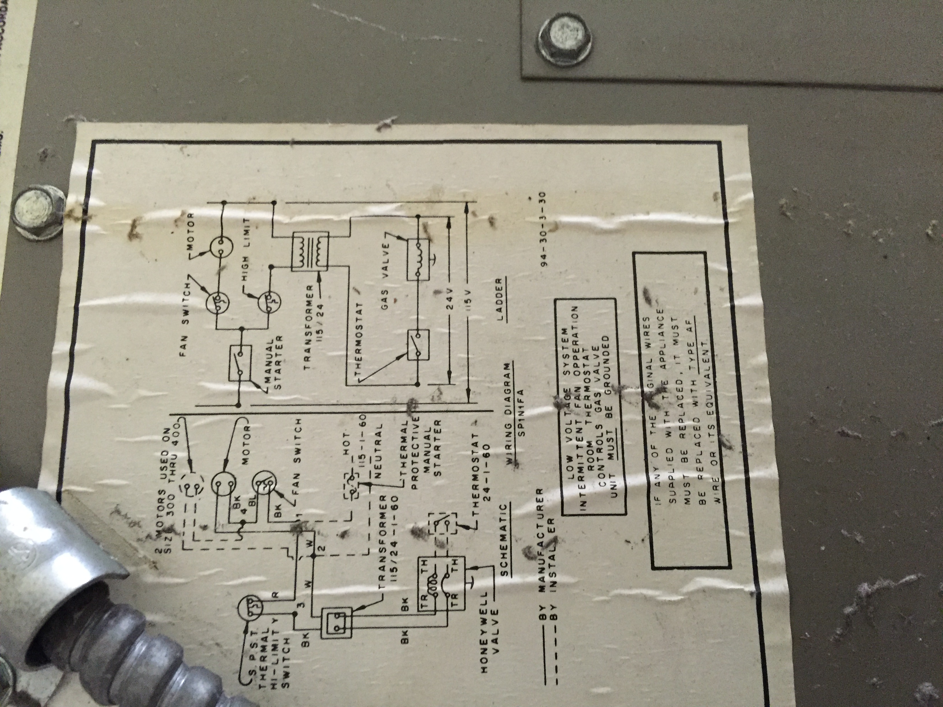 I Have 2 Janitrol Wh 100 Heaters Not Used Them For 8 Years Blower Wiring Diagram Img 0434