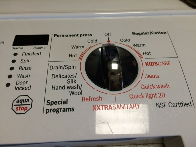 I Have A Bosch Nexxt 500 Plus Series Front Load Washer