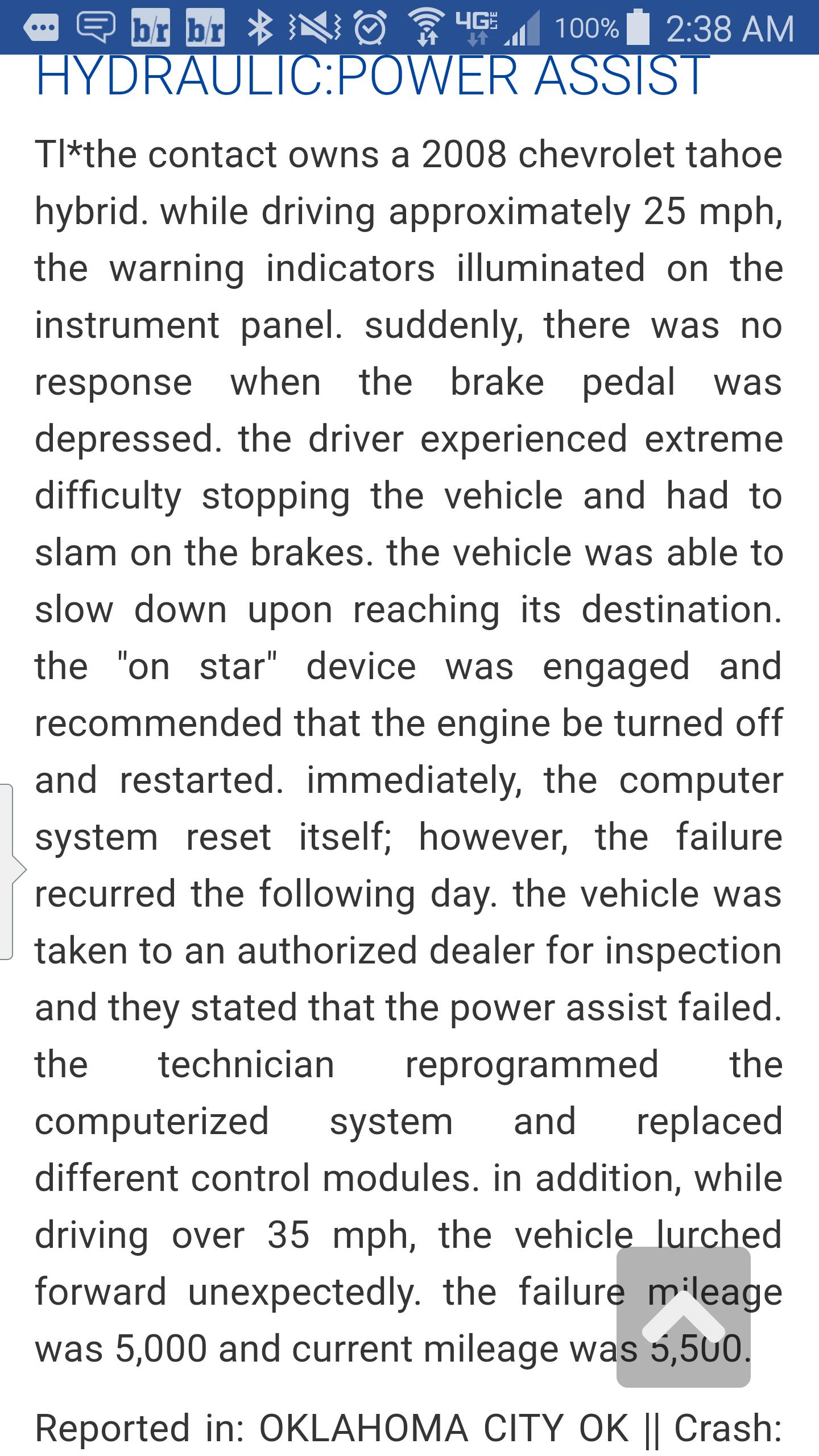 2008 Tahoe Hybrid  Traction Control Light on, Brake Light On