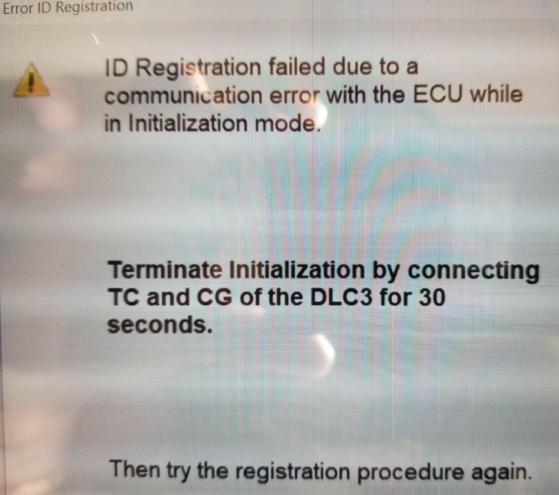 Toyota Sienna Service Manual: Communication Error from ECM to DistanceControl ECU