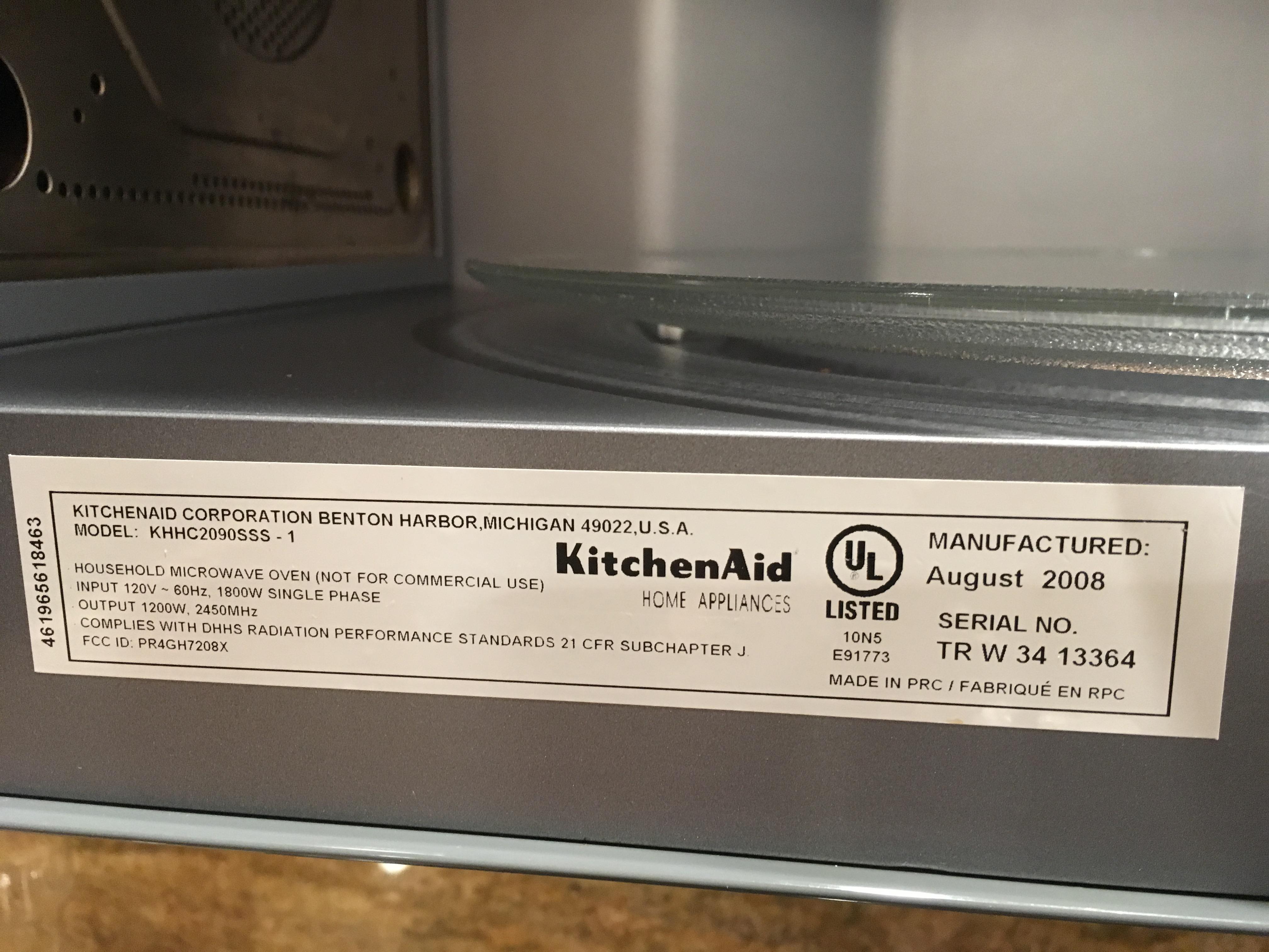 We have a kitchenaid microwave and is saying: error f9q. I ... Kitchenaid Kemc Wiring Diagram on