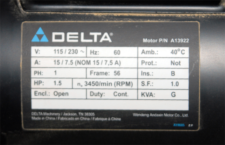I'm trying to change my Delta Contractors Table saw Model 36-979