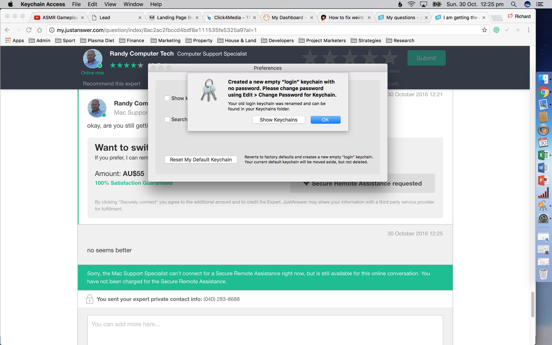 microsoft wants to use the login keychain