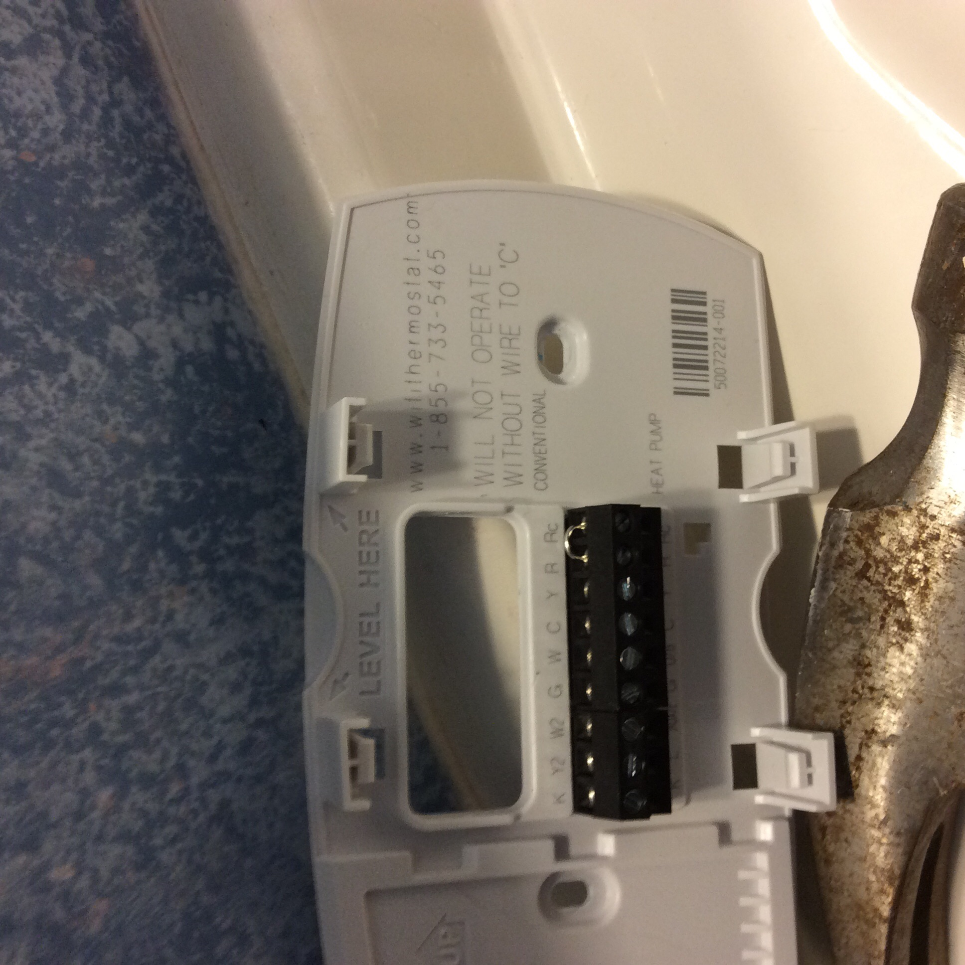 I am replacing a Rheem thermostat with a Honeywell RTH6500WIFI ...
