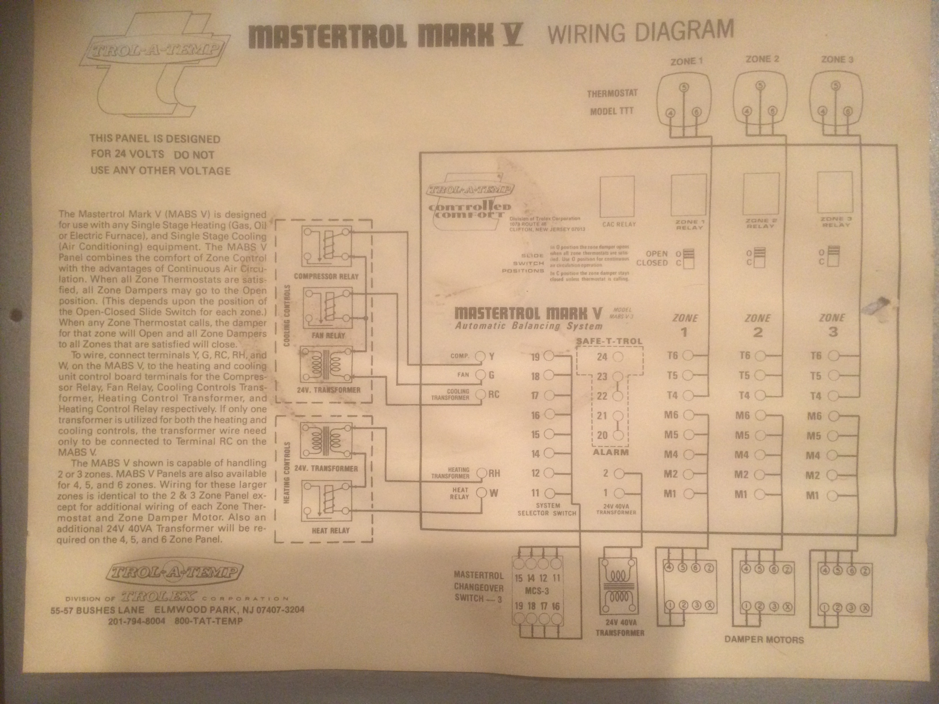 ... Mark Trol A Temp Wiring Diagram on temperature sensor circuit diagram, trol a temp damper ...