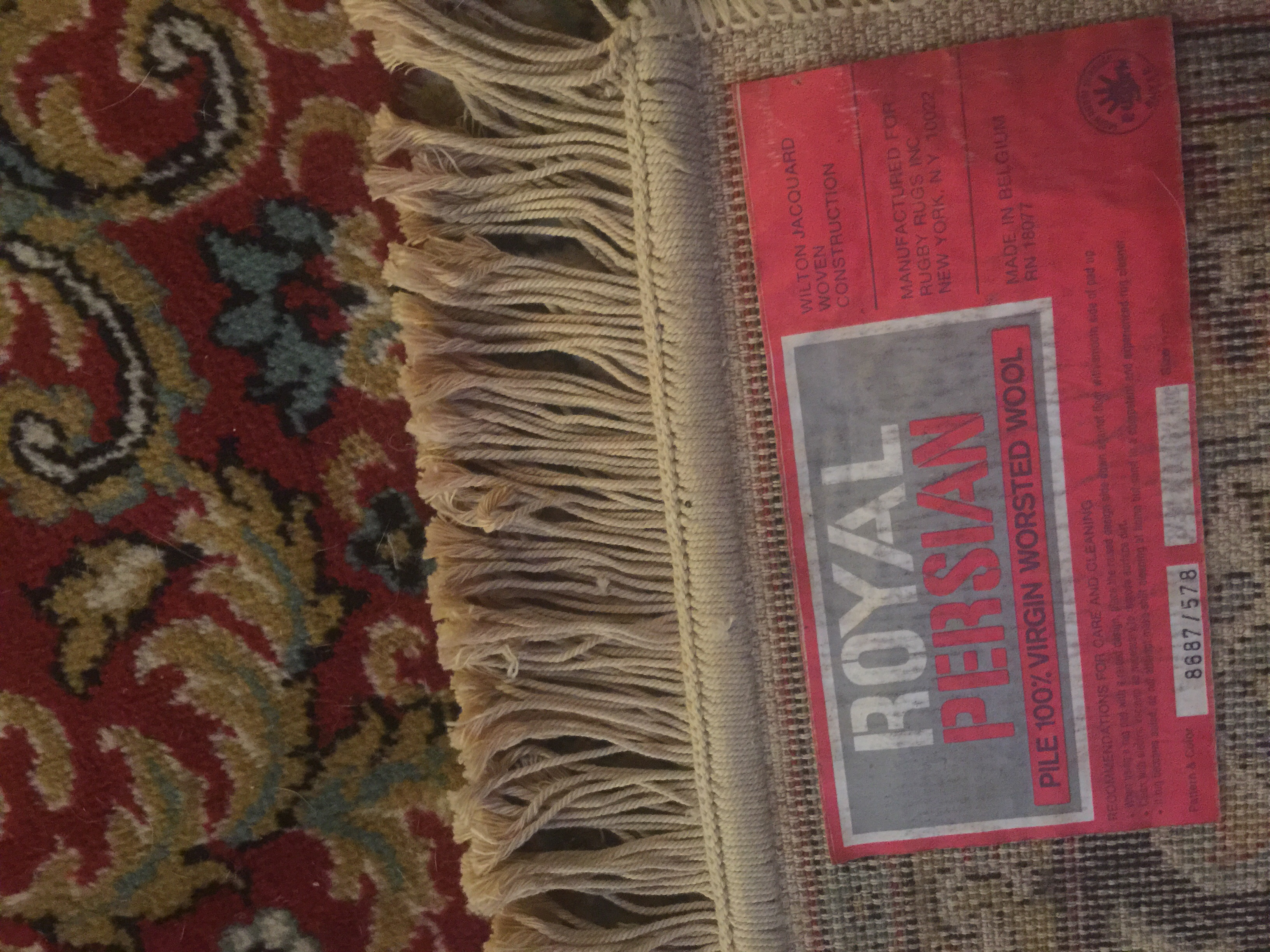 vintage royal Persian worsted wool rug