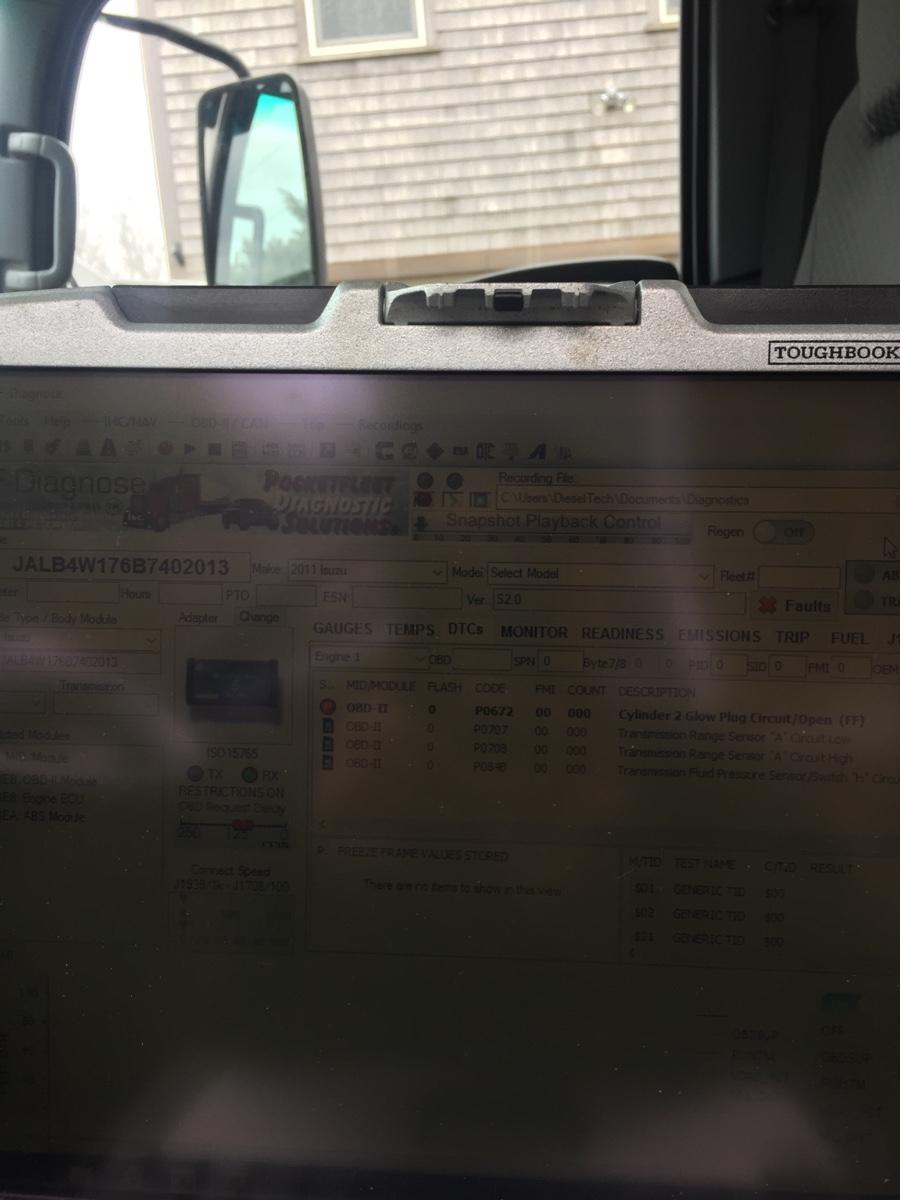 I hav a 2011 Isuzu NPR  Diesel  Check engine light is on