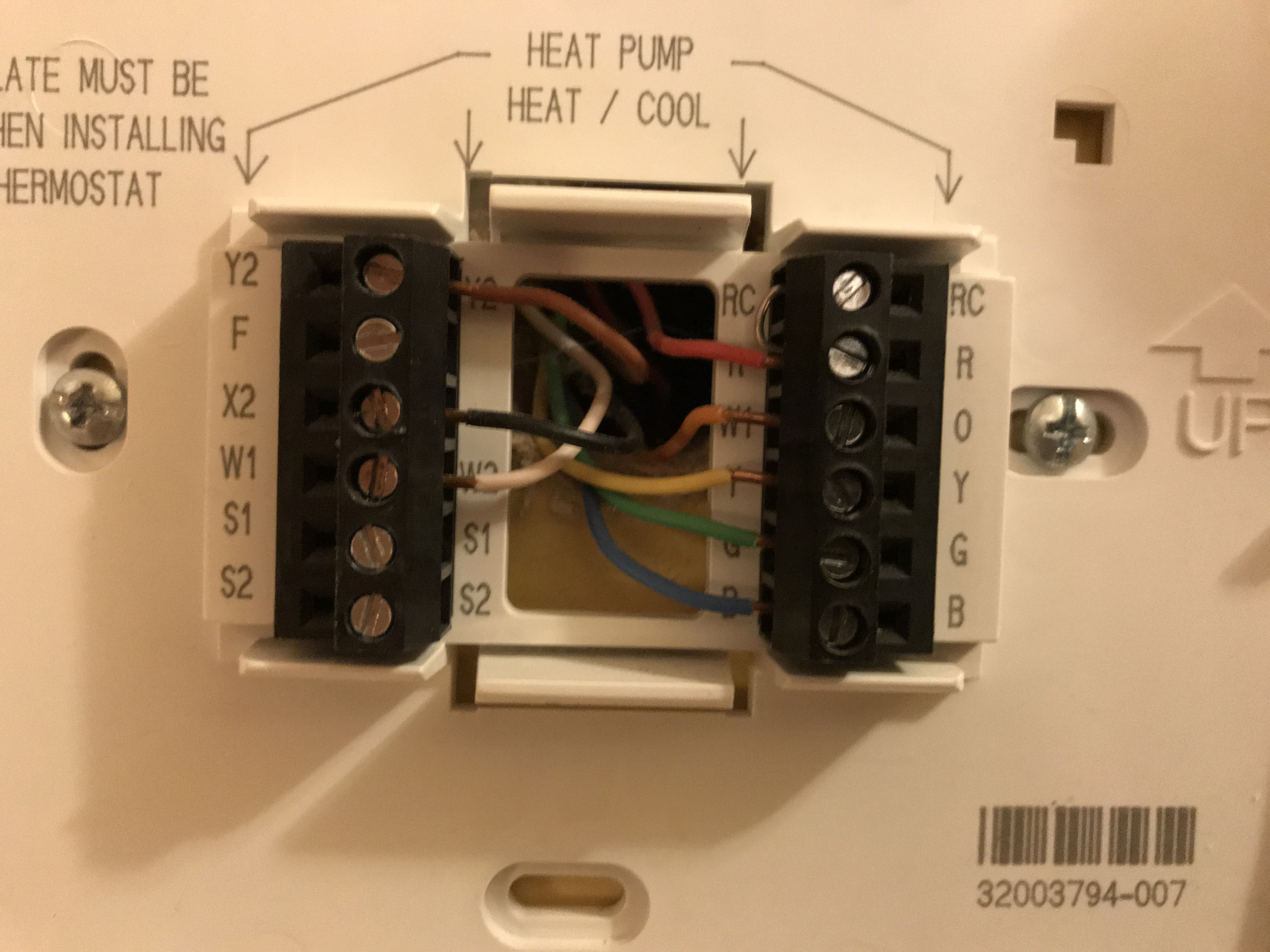 My Trane TCONT800 thermostat lost its backlight when it is plugged