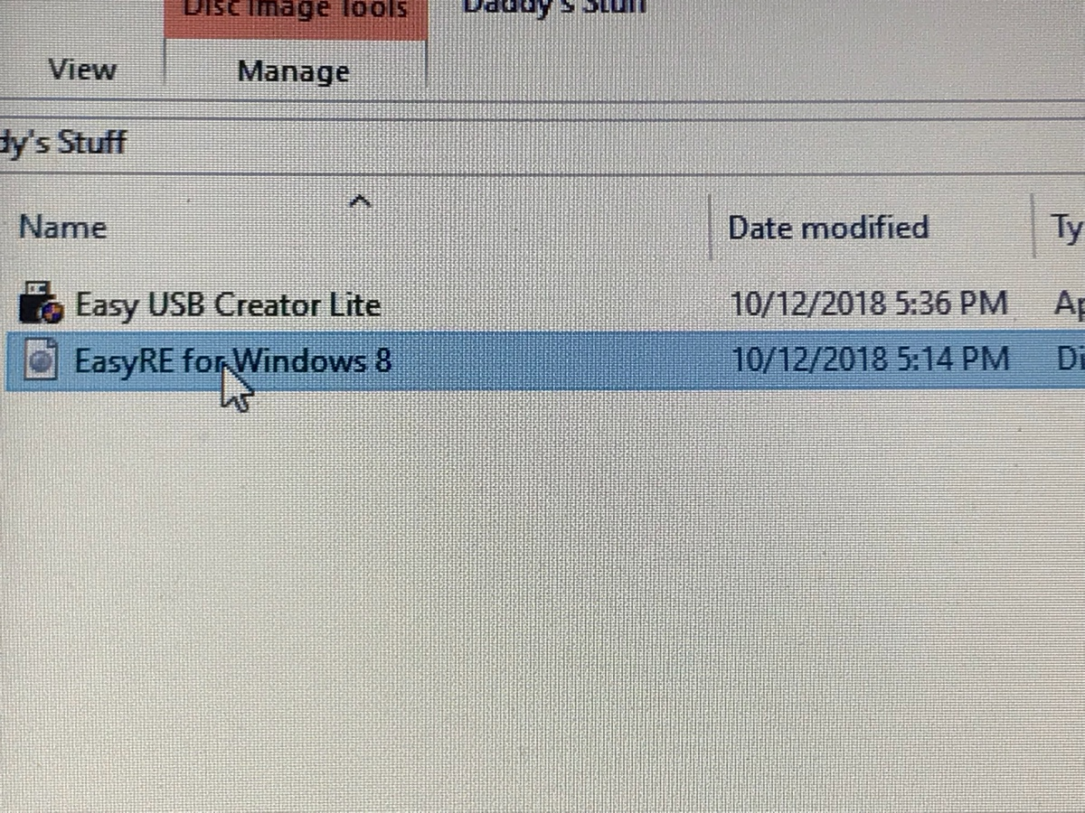 easyre recovery iso image for windows 10