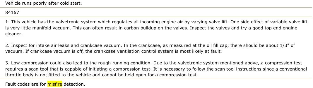 My 2007 BMW 550I has a random multiple misfire code P0300 on