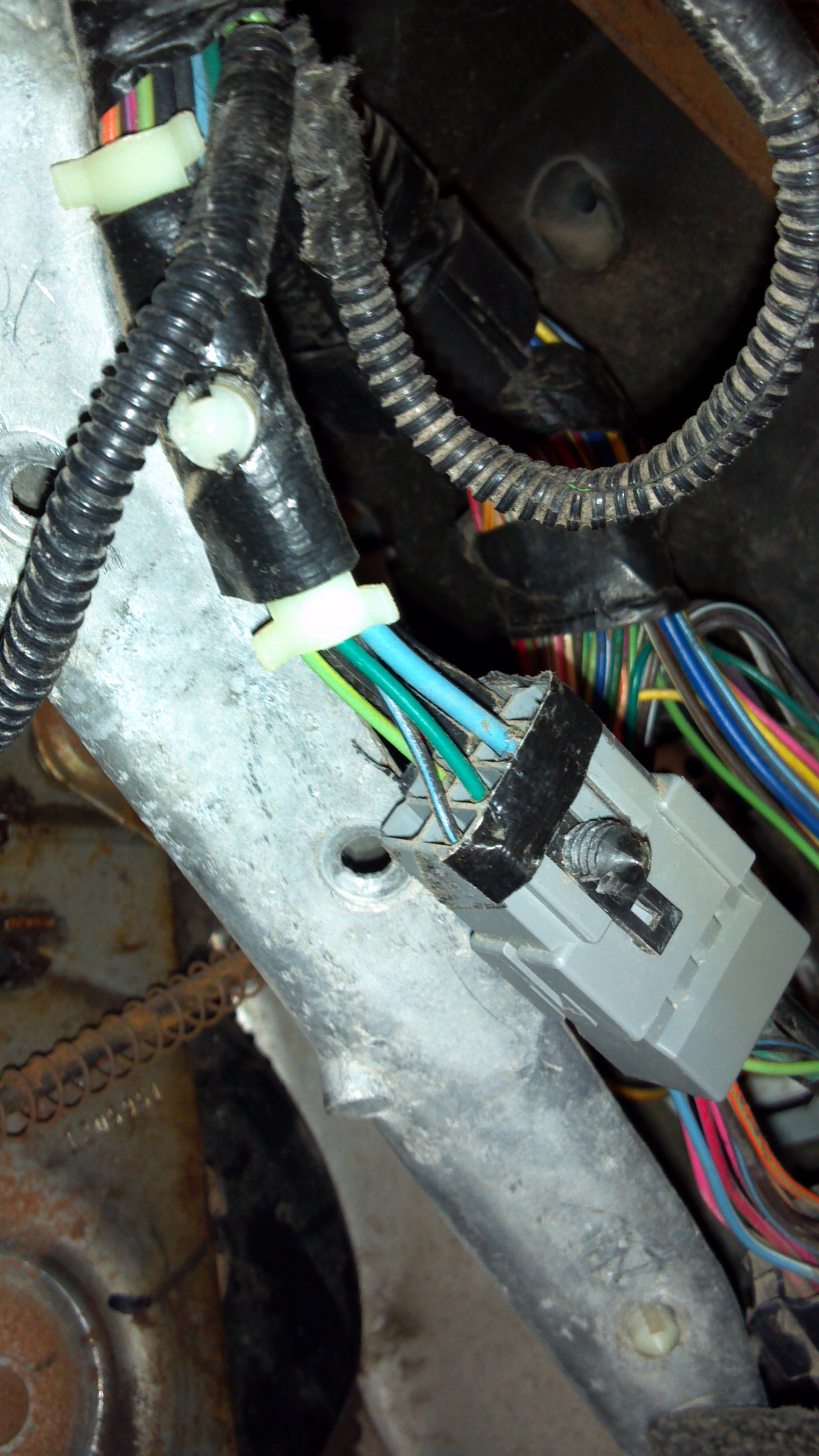 96 F 250: Powerstroke..I need the continuity of the wires..fire wall