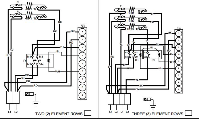 D B Df F B C A F F Eb F Goodmanhkr on Goodman Package Unit Wiring Diagram