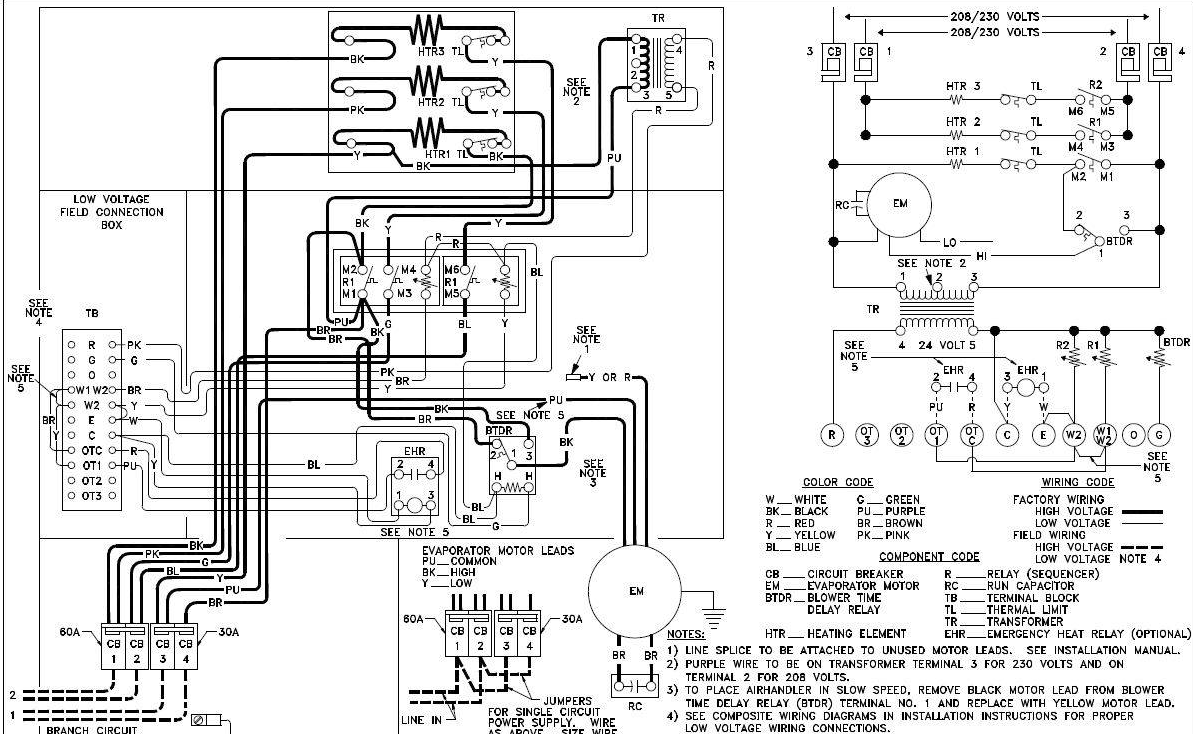 Air Handler Wiring Diagram Quick Start Guide Of Heat Pump I Need A For Older Goodman A42 15 Airhandler It At Rh Justanswer Com York