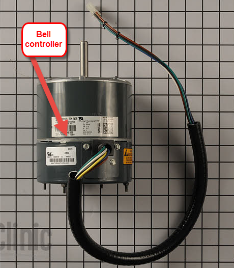 DOES THE CONDENSER FAN MOTOR ON A TRANE XL16I HAVE A