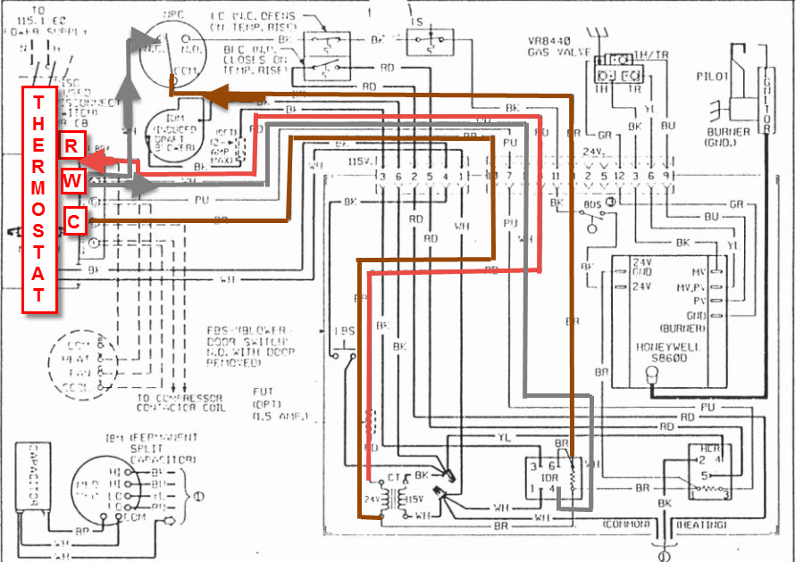 trying to see if old ruud deluxe 90 furnace works dotted it have a Ruud Electric Furnace Wiring Diagram