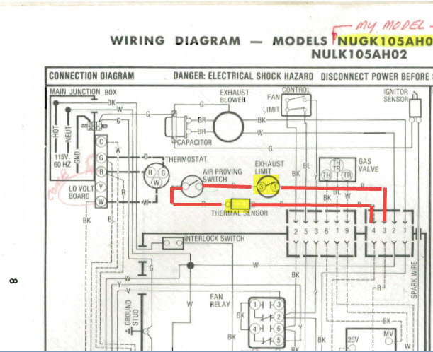 I Have A Heil Quaker Furnace Model Nugk105ah02 That Will Not Fire Up When I Set The Thermostat To Heat Only The
