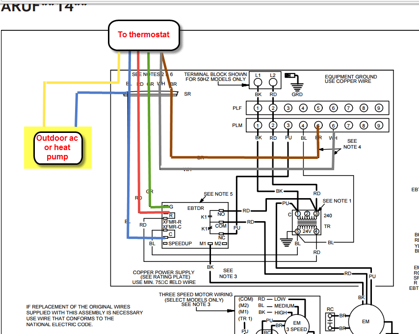 I have a GOODMAN ARUF37C14 and am trying to install a smart ... H A Wiring Diagram Goodman on