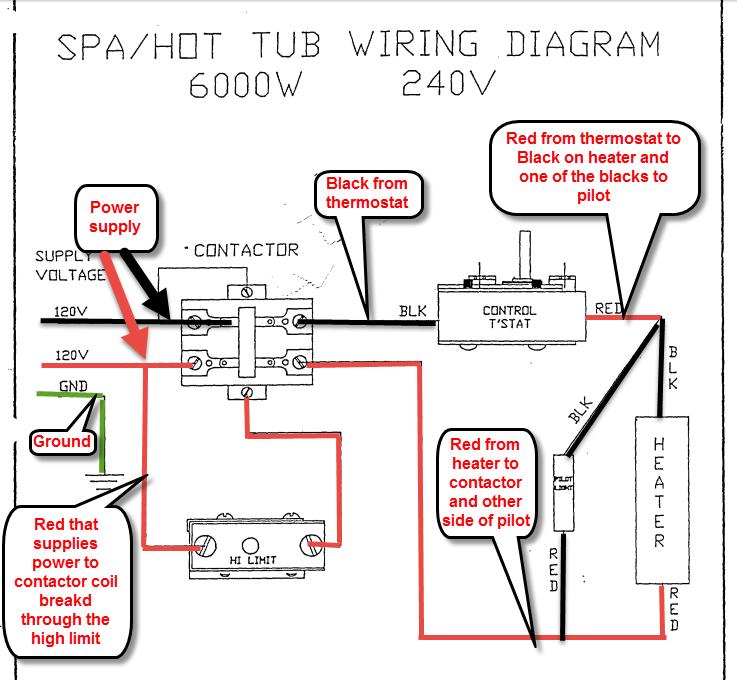 I Need Instructions On Wiring A Vulcan Stx060u  8 Spa  Hot