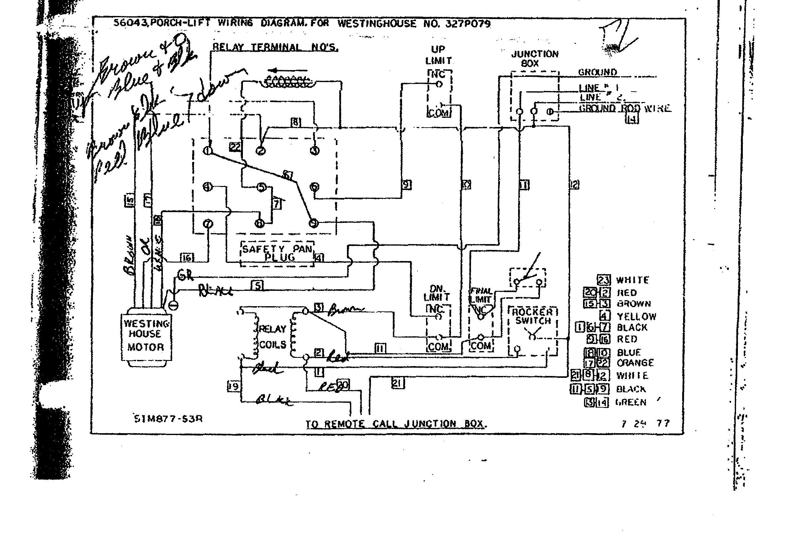 Who Where Can I Get Help With Westinghouse Motor Wiring Single Phase 220 Diagram Porch Lift Elevator