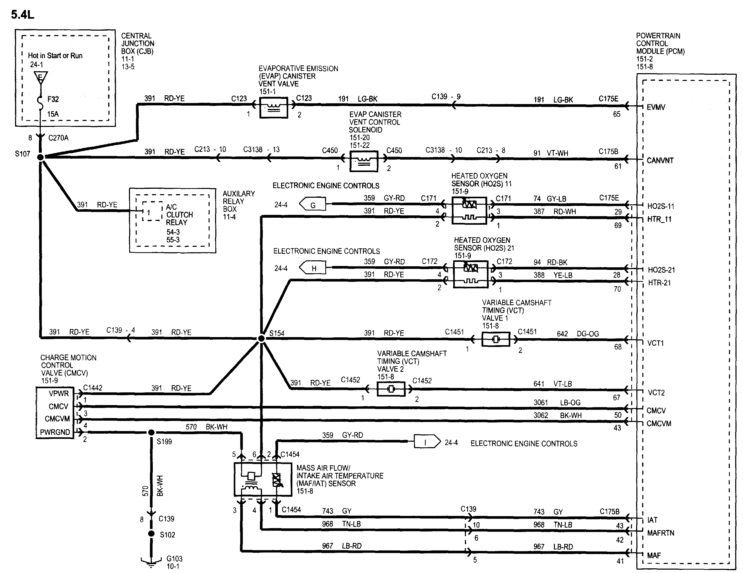trying to find wiring diagram for 2005 ford f150 fx4 5.4l front passenger  side o2 sensor  justanswer