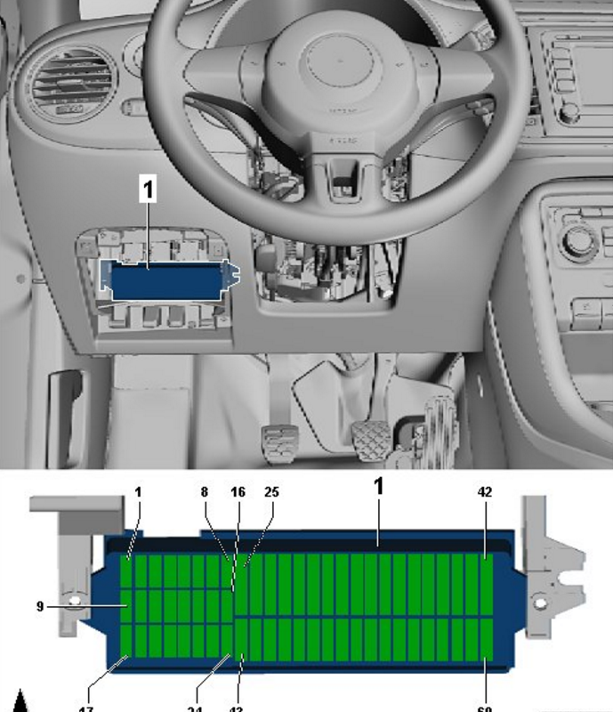 Need Volkswagen Beetle 2015 1 8t Fuse Diagram