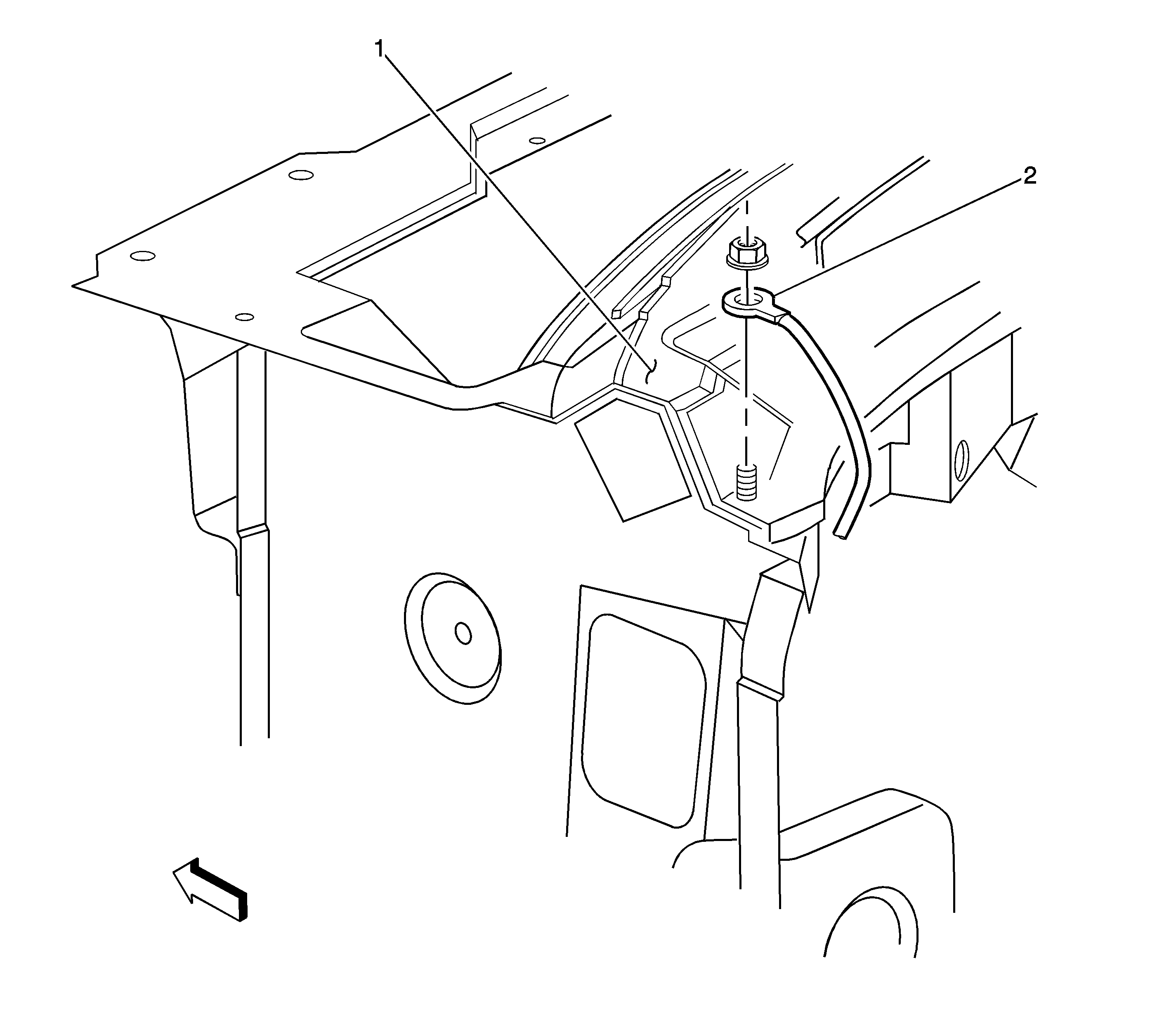 i need to know the location of the g200 ground wire in my 2004 chevy silverado 2500hd duramax