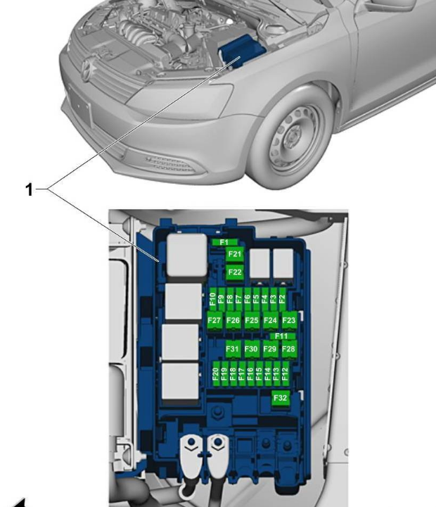 fuse diagram    jetta se       give   diagram  fuse boxes