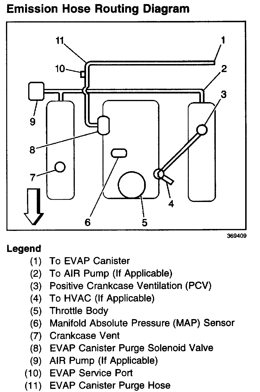 Need A Vacuum Hose Routing Diagram For A Chevy S10 4 3l Vortec Engine