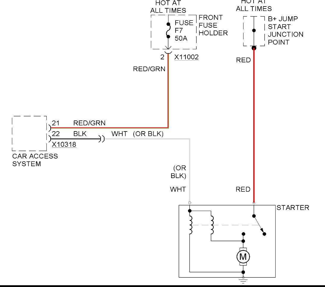 Vehicle Will Not Start Removed Starter Checks Good On Bench Jump Car Diagram C818699e 5c2f 4bab A6c4 C818699