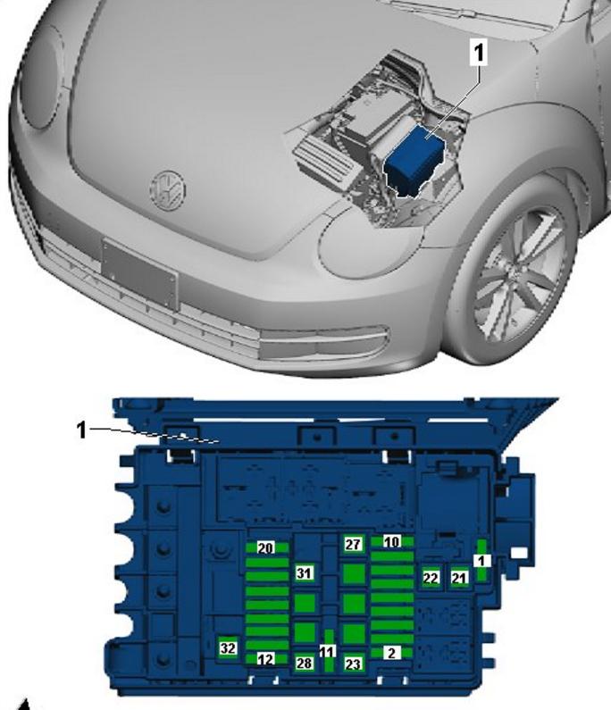 Need Volkswagen Beetle 2015 1 8t Fuse Diagram