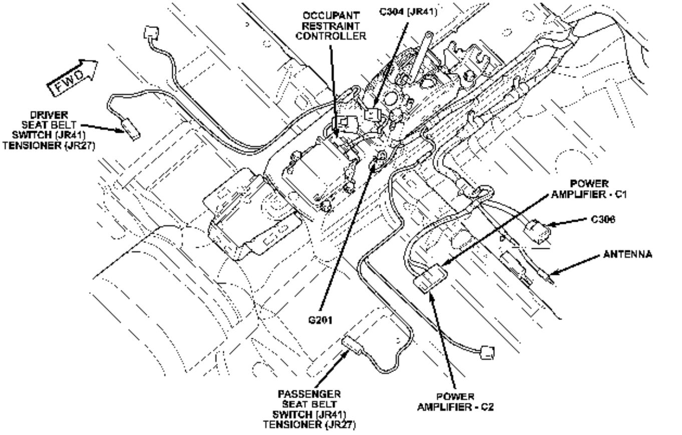 AIRBAG.CONTROL//MODULE//UNIT.SRS 03-04-05 DODGE STRATUS,ECLIPSE,SEBRING