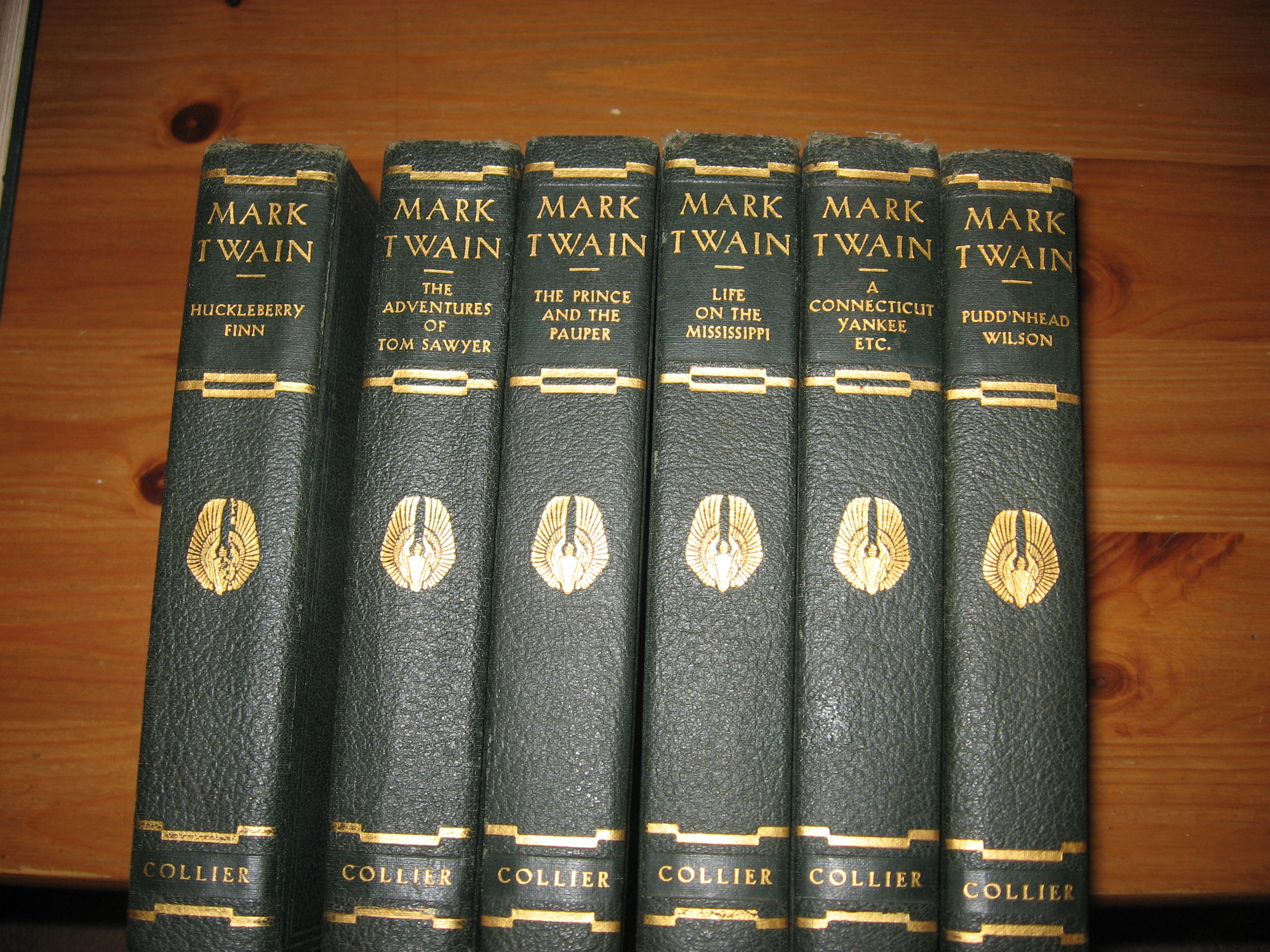 Twain L Clemens Illustrated 6 Book Set Authorized