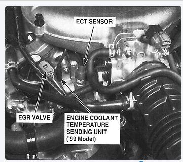 where is the engine coolant temp sensor 2000 acura tl thermostat rh justanswer com 1998 Acura CL 1997 Acura TL