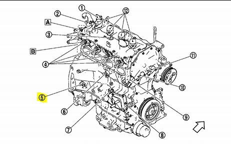Where Is The Crankshaft Position Sensor Located On The 2013 Altima