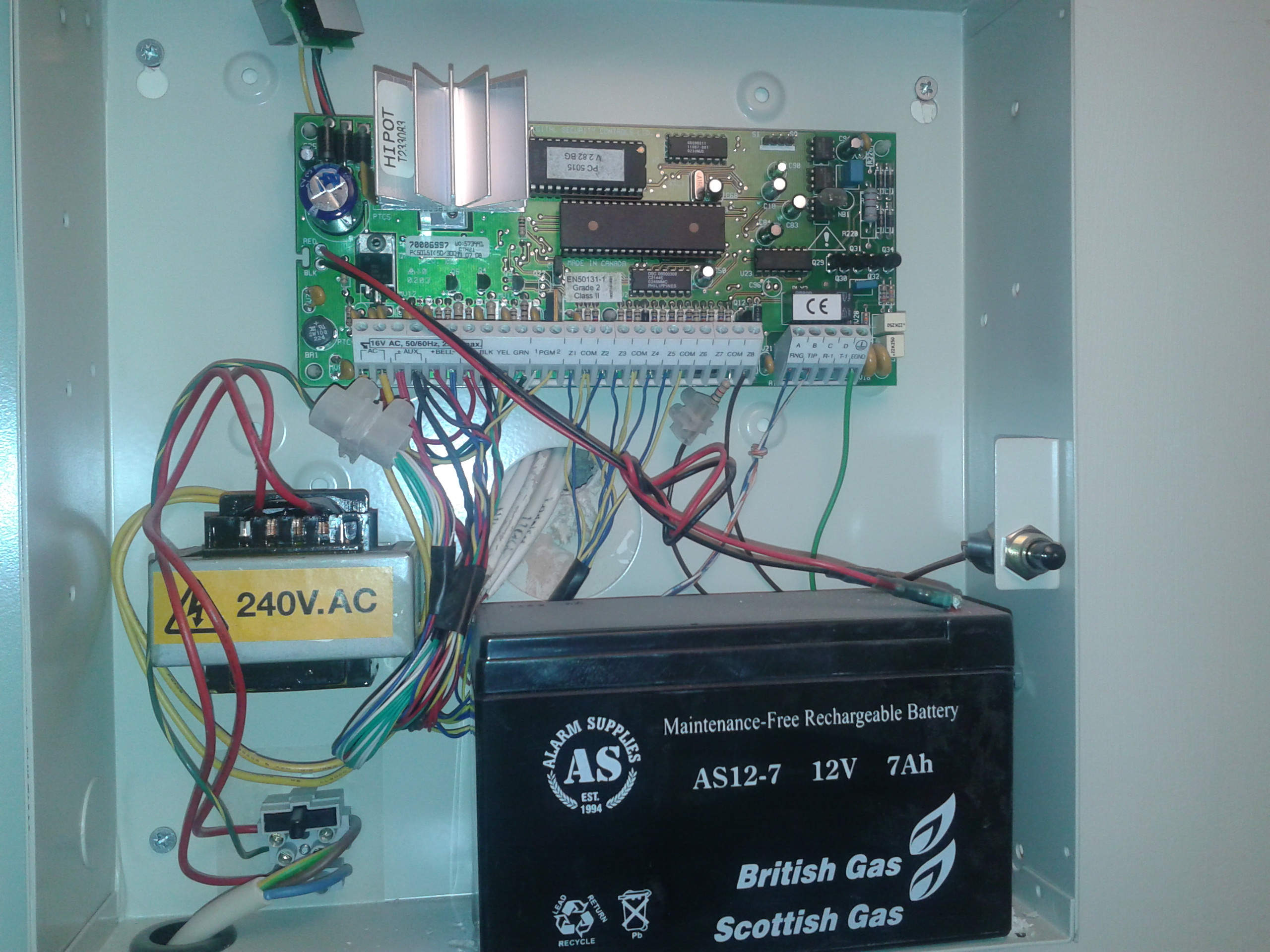 I have a DCS/ British Gas KP5501Z Alarm system in a house i bought 4