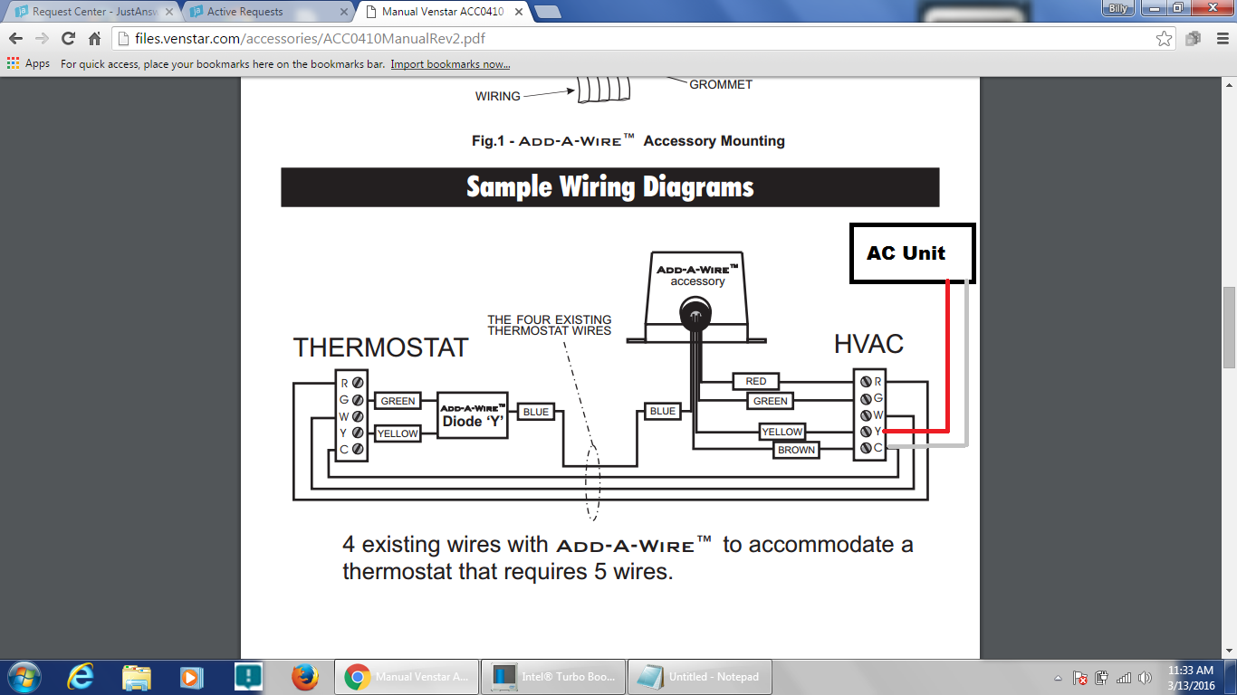 At The End Of Dec 2015 I Worked With Billy Just Anwser To Get My Venstar Thermostat Wiring Diagram 1df191bc 5967 4fc4 A8d6 B6b3d2c222b7 Add A Wire