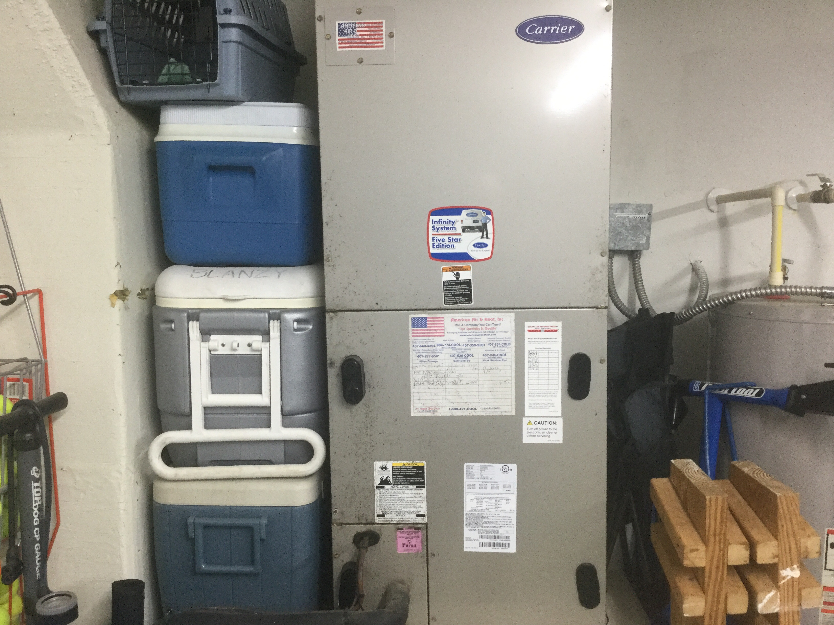 I have a Carrier Infinity System for heating/cooling  I pushed the