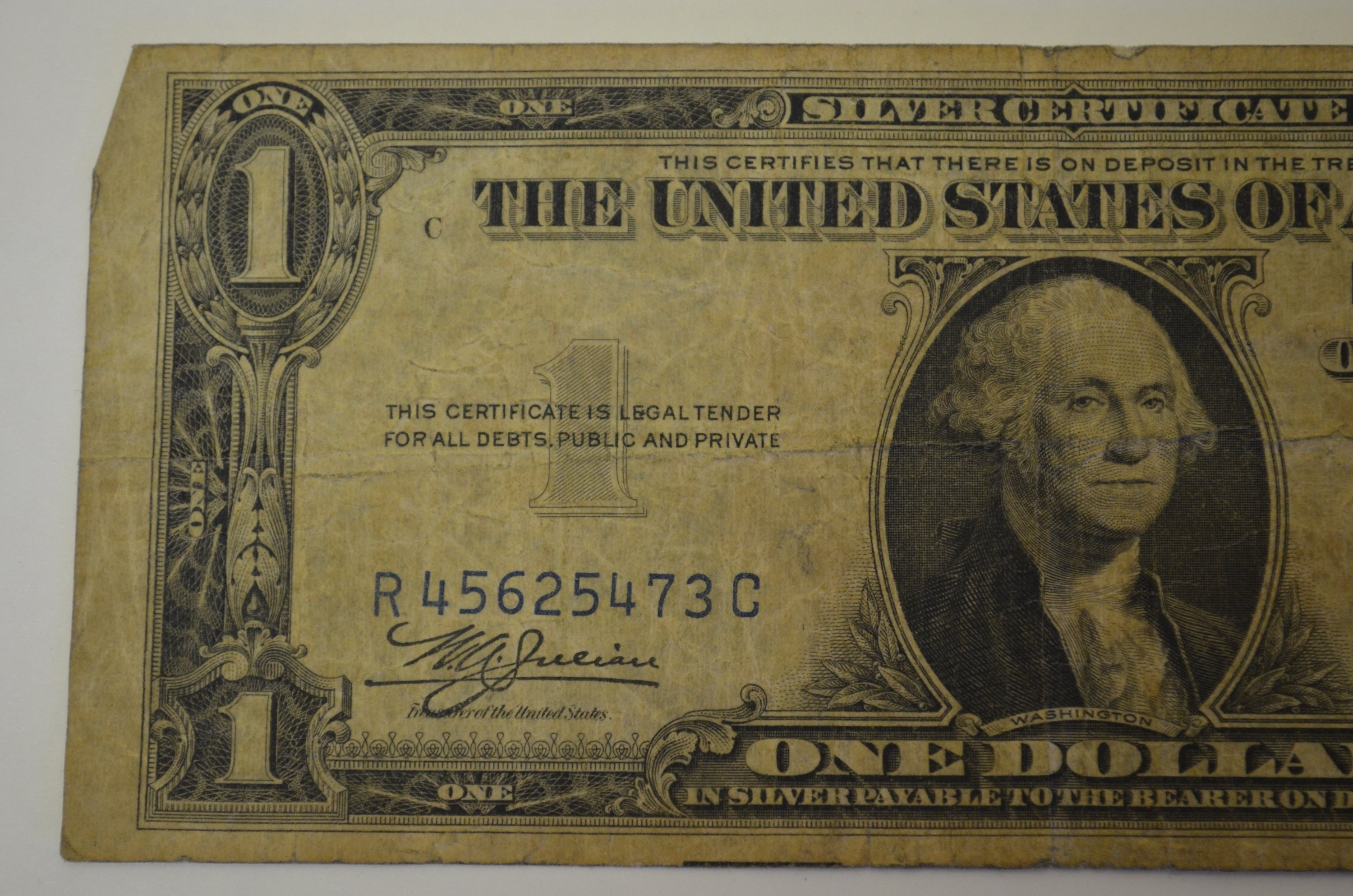 I am interested in the value of a 1937 silver certificate please jpg 1935 silver certificate 8ag xflitez Choice Image