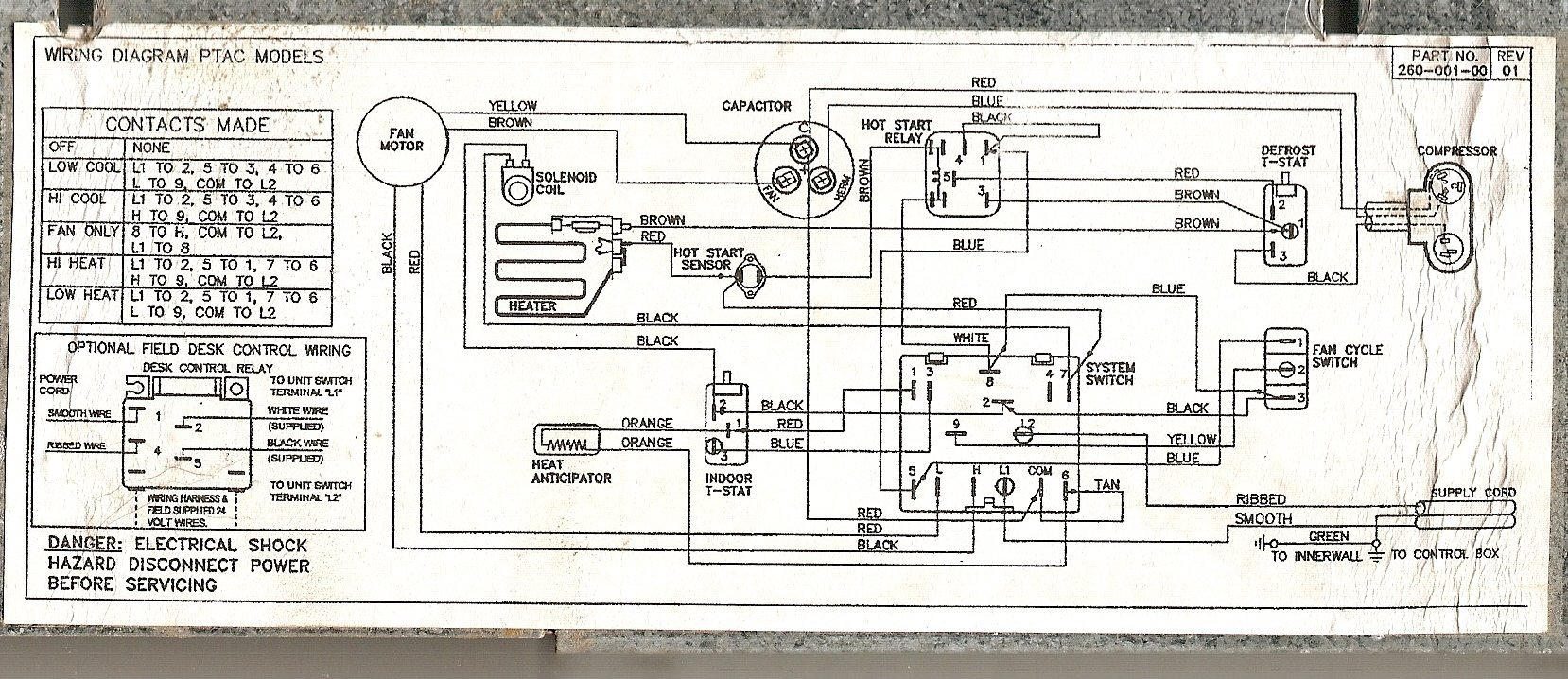Ptac Units Wiring Diagram Schema Diagrams Wall Thermostat Data