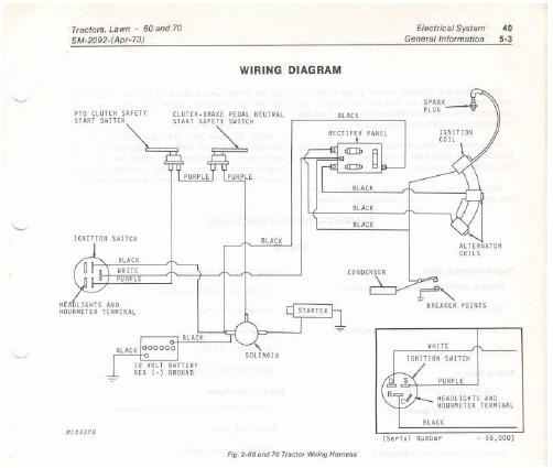 I have a Teseh H70-135008 7Hp engine on a Deere Model 70 ... John Deere Model Wiring Diagram on farmall super mta wiring diagram, john deere 50 wiring diagram, john deere model 70 engine,