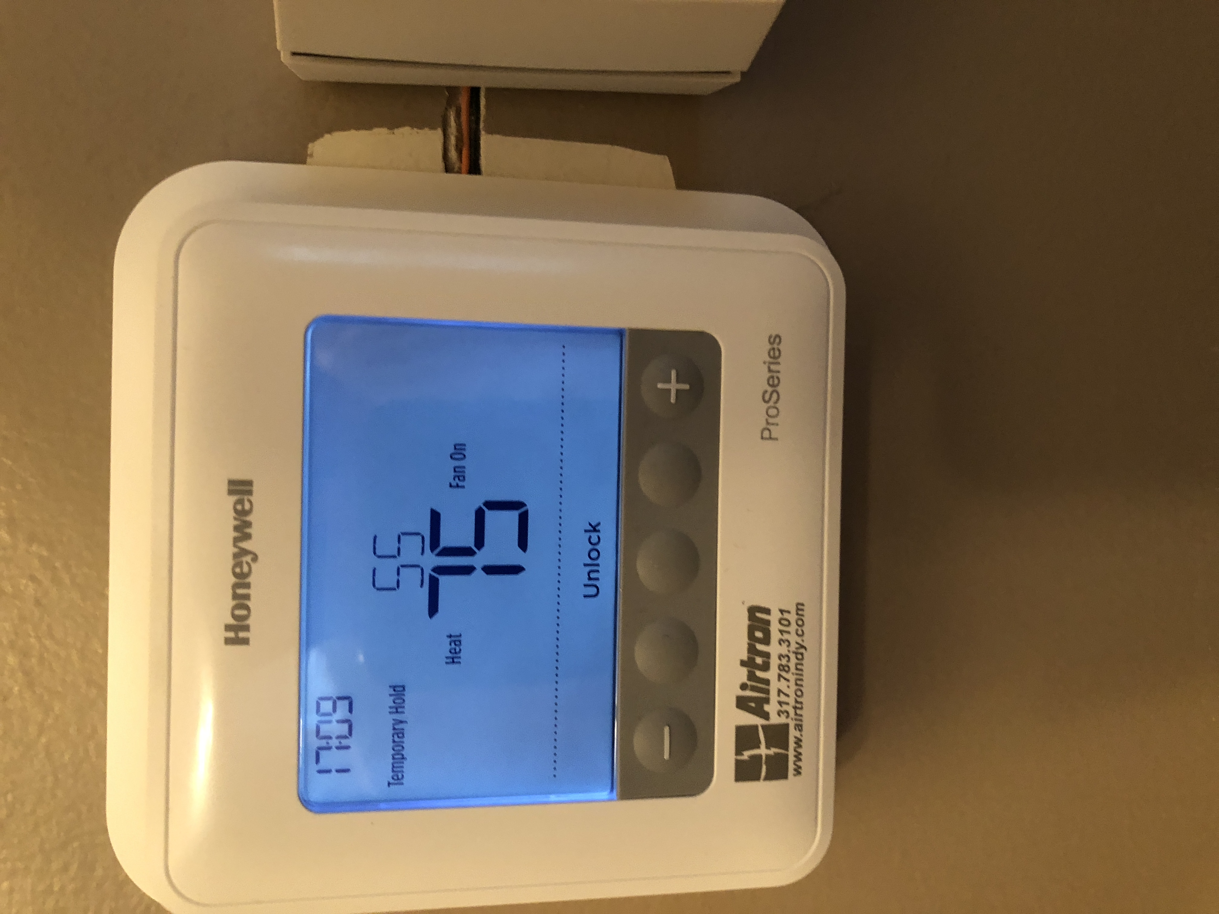 I have a Honeywell TH4210U2002 thermostat  When I returned