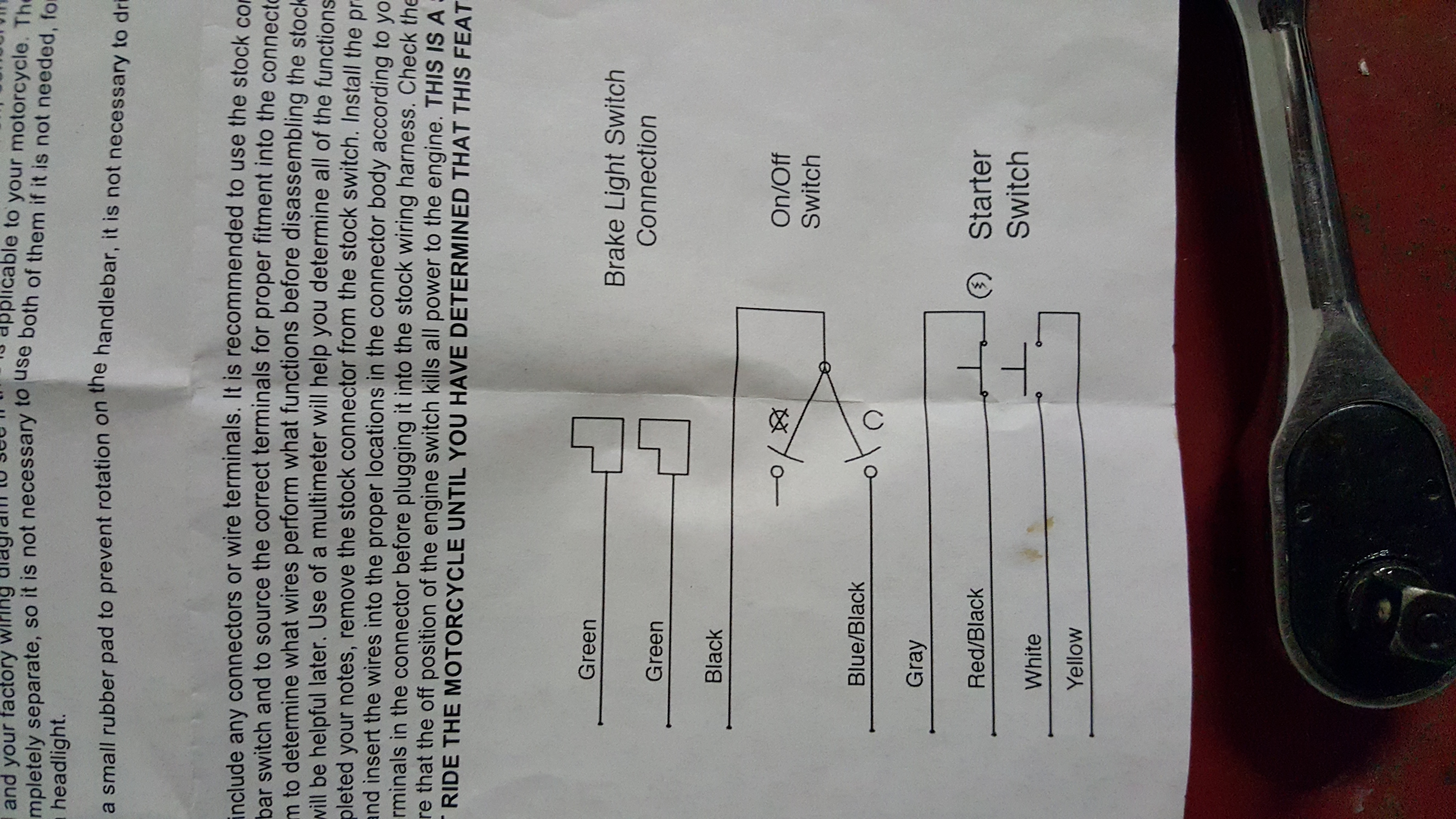 I bought a motion pro kill switch and need help wiring to my 07 Suzuki gsxr  750. My motion pro part # is 11-0098. The [ 5312 x 2988 Pixel ]