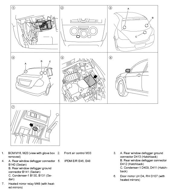 2011 Nissan Versa were is body control module location