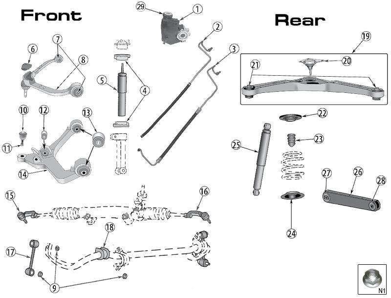 2003 chevy trailblazer suspension diagram  chevrolet
