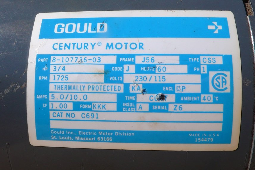 Gould Century Electric Motor Wiring Diagram - Wiring Diagram K8 on